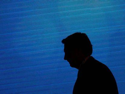 La silueta del presidente brasileño Jair Bolsonaro.