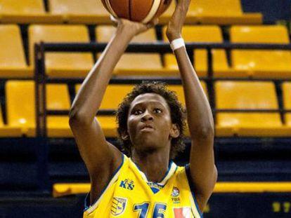 Ndour, en un partido de esta temporada con el Gran Canaria.