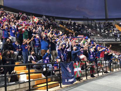 Unos 500 seguidores del Amorebieta se desplazaron a Badajoz para el partido que les valió el ascenso a Segunda División, /SD AMOREBIETA