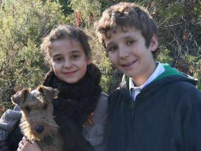 Victoria Federica y Felipe Juan Frolilán, en 2011.