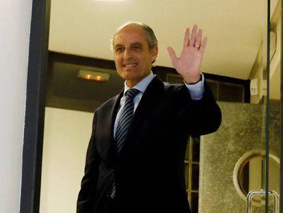 El expresidente valenciano Francisco Camps, en el Consell Juridic Consultiu.