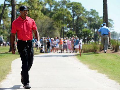 Tiger Woods, este domingo durante la última jornada del Honda Classic, en Florida, torneo del que se retiró