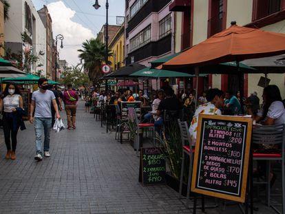 Terrazas del Centro Histórico de Ciudad de México el pasado 24 de mayo.