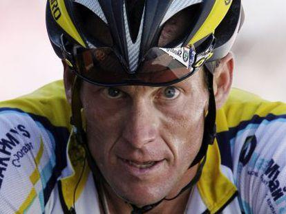 Armstrong, en el Tour de 2009.