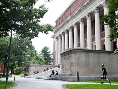 El campus de Harvard en Cambridge, Massachusetts.