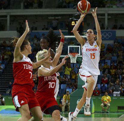 La canasta ganadora de Cruz ante Turquía en los Juegos de Río 2016. getty