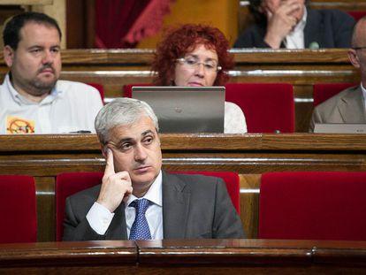 El exgerente de CDC y exconsejero de Justicia, Germà Gordó, en una imagen de archivo tomada en el Parlament.