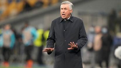 Carlo Ancelotti, el pasado martes contra el Shakhtar en Kiev.