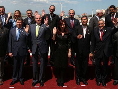 Foto de familia de la Cumbre Iberoamericana celebrada en Mar del Plata.