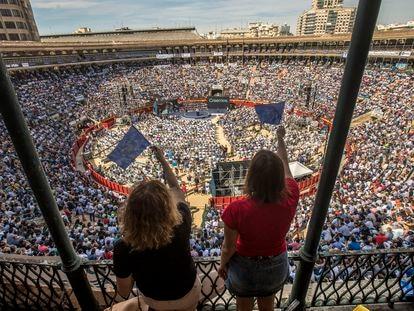 Acto de clausura de la Convención Nacional del PP, en la Plaza de Toros de Valencia, el pasado 2 de octubre.