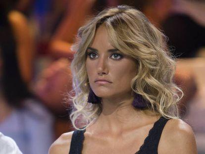 La modelo Alba Carrillo en julio de 2017, a su regreso del programa 'Supervivientes'.
