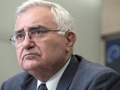 John Dalli, en una rueda prensa en Bruselas.