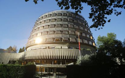 Fachada del Tribunal Constitucional , en Madrid.