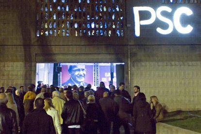 Mitin electoral del PSC en Santa Coloma de Gramanet el pasado lunes.