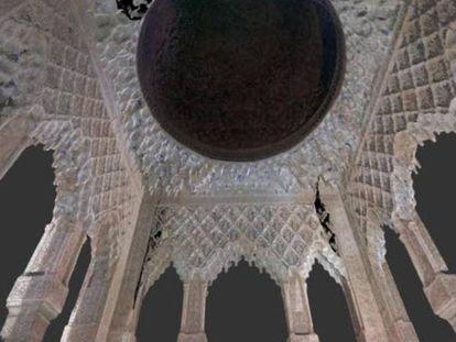 Reconstrucción en 3D del templete Este del Patio de los Leones.