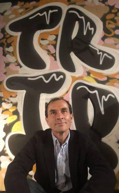 El periodista Carlos Fresneda, este lunes, en Londres
