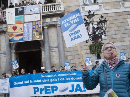 Manifestación en favor de la PrEP, el pasado 1 de diciembre en Barcelona