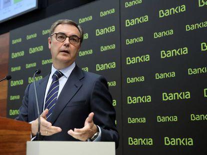 José Sevilla presenta los resultados de Bankia del primer semestre.