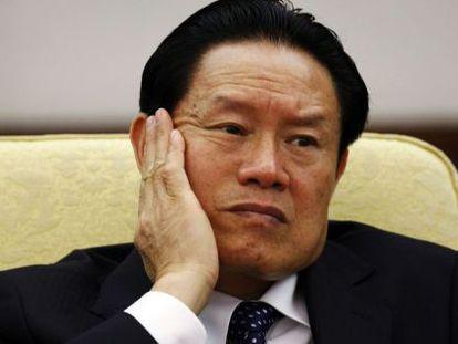 El exjefe de seguridad Zhou, durante el Congreso del Partido Comunista Chino, en octubre de 2017.
