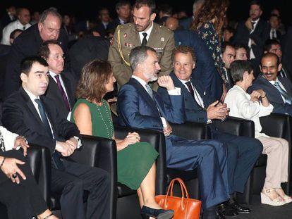 El Rey Felipe VI, en la inauguración de Gastech, este lunes.