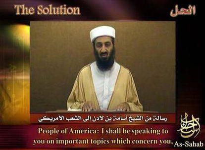 Imagen de un vídeo de Osama Bin Laden capturado por la internauta Laura Mansfield.