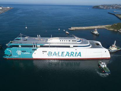 Ferry rápido Eleanor Roosevelt, en el que Baleària ha invertido 90 millones.