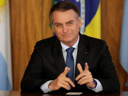 Bolsonaro, durante una reunión con Mauricio Macri, mandatario de Argentina.