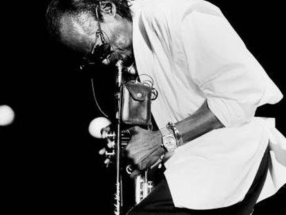 Miles Davis, en una actuación en Nueva York en 1985.