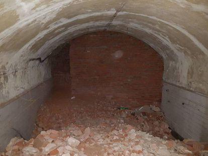 Una de las bóvedas originales de la estación de Gran Vía halladas ahora.