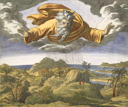 'El tercer día de la creación'. Ilustración de Julius Schnorr von Carolsfeld (1794-1874) / Akg-images