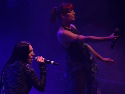 Mala Rodríguez y Nawja Nimri, el jueves en el Teatro Barceló de Madrid.