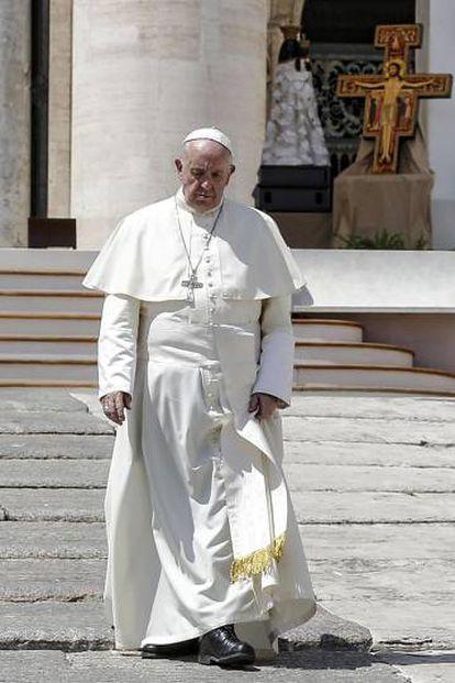 El Papa Francisco en la plaza de San Pedro, en Roma.