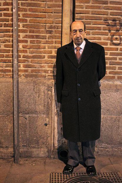 Alfonso Armada, exgeneral condenado por el intento del golpe del 23-F, en una calle de Madrid, la semana pasada.