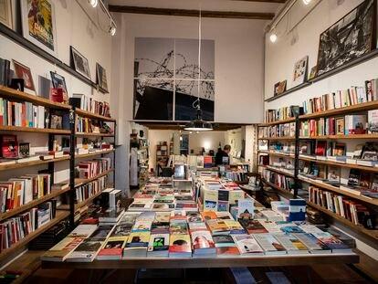 """Librería """"La memòria"""", en el barrio de Gràcia."""