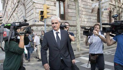 Germà Gordó, tras declarar como investigado.