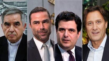 Giovanni Angelo Becciu, René Brülhart, Tommaso di Ruzza, Raffaele Mincione, acusados en el juicio que comienza el martes.
