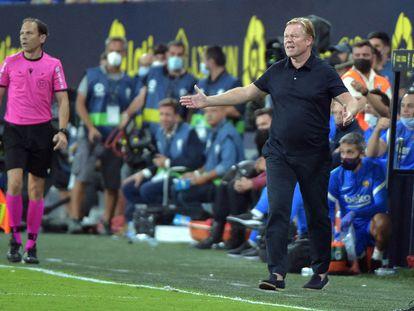 Ronald Koeman, en el partido del Barcelona frente al Cádiz en el Nuevo Mirandilla.