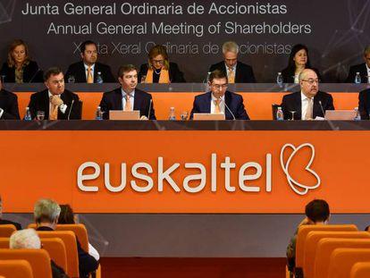 Junta general de accionistas de Euskaltel celebrada en junio pasado.