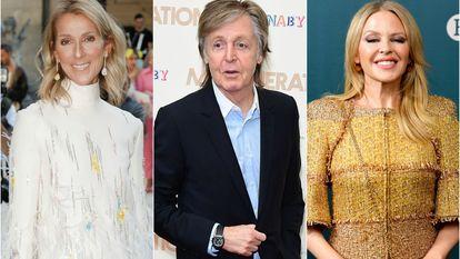 Céline Dion, Paul McCartney y Kylie Minogue.