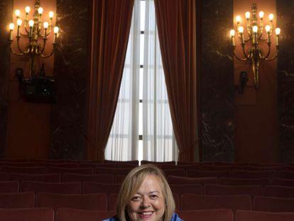 Pie de Foto: La científica Rosa Menéndez, en la sede del CSIC (Madrid) este 19 de agosto.