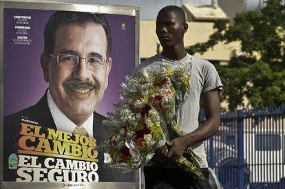 Un cartel de Danilo Medina, en Santo Domingo.