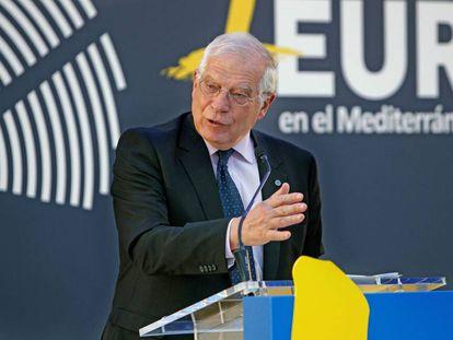 El ministro de Asuntos Exteriores, Josep Borrell, en la presentación del Ciclo de Conferencias sobre Europa en la Casa del Mediterráneo de Alicante.
