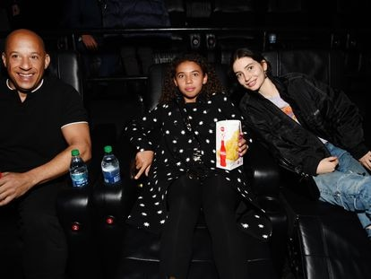 Vin Diesel (a la izquierda) y Meadow Walker (a la derecha), durante el estreno de 'Fast & Furious: Spy Racers', en 2019.