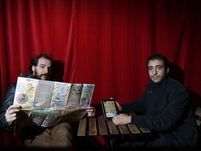 Fernando Sánchez-Cabezudo y Juan garcía Calvo, creadores de Storywalker.