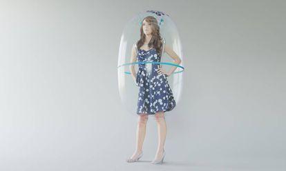 La burbuja actúa como una barrera física con el exterior proporcionando aire filtrado y saludable a su portado