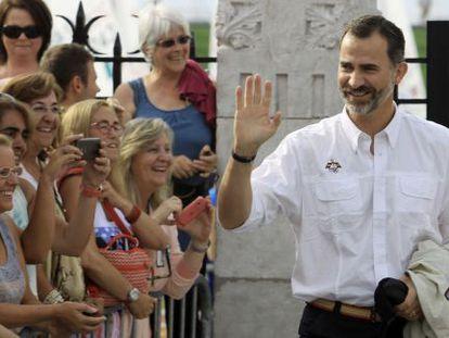 El Rey en el Mundial de Vela de Santander, el 13 de septiembre.