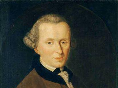 'Immanuel Kant' (1768), por Johann Gottlieb Becker.