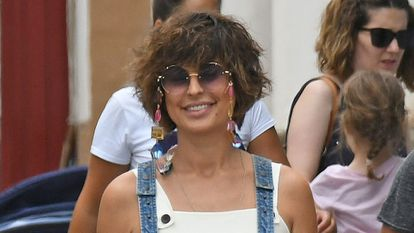 Raquel Perera por las calles del Puerto de Santa María, Cádiz, en julio de 2019.