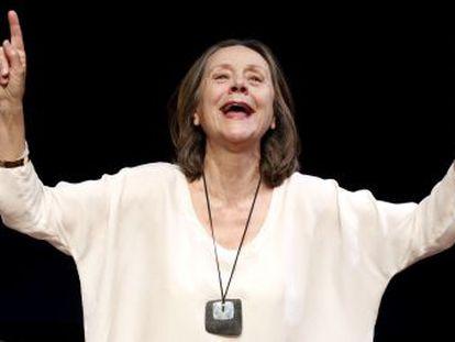 Jeaninne Mestre, en un ensayo de 'El año del pensamiento mágico'.