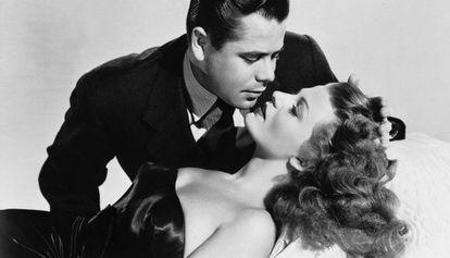 Rita Hayworth y Glenn Ford en 'Gilda'.